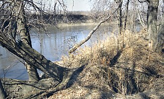 Blue Earth River - The Blue Earth River in Vernon Center in 1996