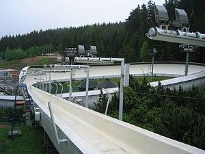Altenberg bobsleigh, luge, and skeleton track - Spirale turn