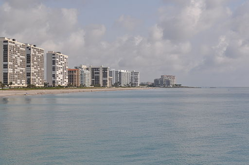 Boca Raton, FL from fishing pier