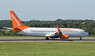 Sunwing Airlines - Boeing 737-800 of Sunwing Airlines at Bristol Airport, England (2016)