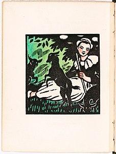 Drewno wzmocnione kolorem, il.  Malo-Renault, Pieśń Loîca, Auguste Brizeux.jpg