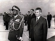 Bokassa with Ceausescu