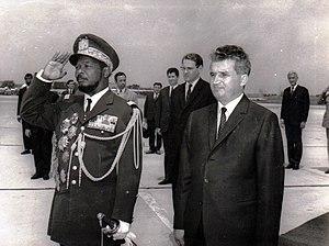Jean-Bédel Bokassa - Bokassa with Nicolae Ceaușescu of Romania, 1970.
