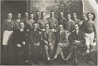 1927–28 FBUs Mesterskabsrække - Image: Boldklubben 1913 team line up and board members Mesterhold og Bestyrelse 1928
