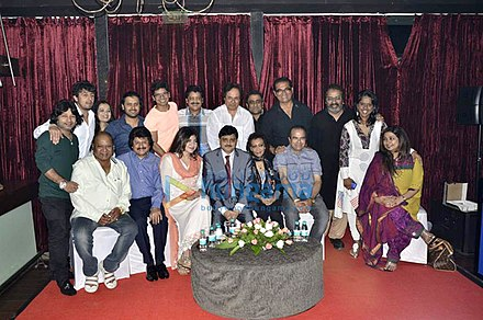 Group of Bollywood singers at the 2015 Indian Singers' Rights Association (ISRA) meeting Bollywood Playback Singers.jpg