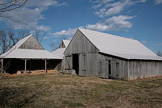 Greenwell State Park - Tobacco barn in the park