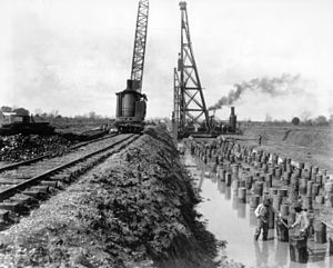 Bonnet Carré Spillway - Construction of Bonnet Carré Spillway, Louisiana, 1929.