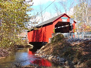 Book's Covered Bridge - Books Bridge, October 2010