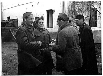 Herta Haas - Herta Haas (second from left) in 1943