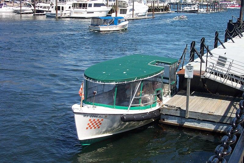 Como pegar táxi aquático em Boston