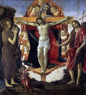 Holy Trinity (Botticelli) - Image: Botticelli Trinity