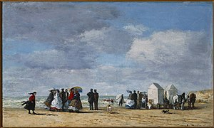 Trouville-sur-Mer - Image: Boudin, Eugène, The Beach at Trouville, 1865