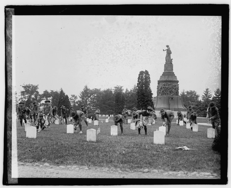 File:Boy Scouts at Arlington, 5-27-22 LOC npcc.06433.tif
