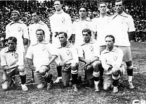 1919 South American Championship - The Brazilian team that won its first championship.