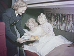 Breakfast being served on SAS Douglas DC-6.jpg