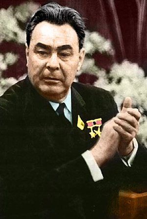 Soviet Union legislative election, 1966 - Image: Brezhnev color