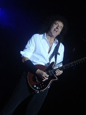 Brian May - May performing in Chile, 2008