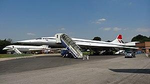 Brooklands Museum - Concorde, G-BBDG, on display