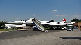 Concorde G-BBDG on display at Brooklands Museum British Airways Concorde at Brooklands Museum.JPG
