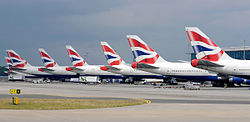 British Airways tails lined up at LHR Terminal 5B Iwelumo.jpg
