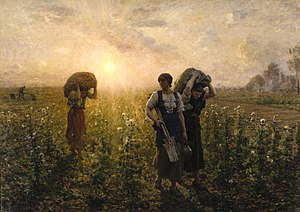 Jules Breton - The End of the Working Day, 1886-87, Brooklyn Museum