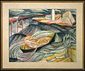 Brooklyn Museum - Skiff in Waves (recto) and Figures in Landscape (verso) - Marguerite Thompson Zorach - framed.jpg