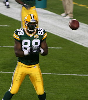 Bubba Franks - Bubba Franks during pre-game warm-ups with the Packers during the 2007 NFL season.