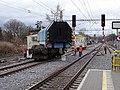 Bubeneč, zastávka Praha-Podbaba, kolejový jeřáb EDK 750 (02).jpg