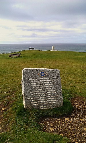 2nd Ranger Battalion (United States) - Memorial erected by the Battalion to mark their time spent in Bude, Cornwall during the Second World War