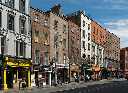 Brick architecture of multi-storey buildings in Dame Street in Dublin Buildings on Dame Street, Dublin 20150808 1.jpg