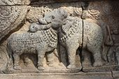 Bull and Elephant statue at Thanjavur Airavatesvara Temple..JPG