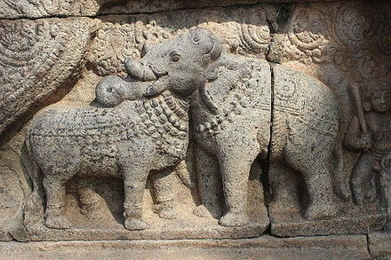 Bull and Elephant statue at Thanjavur Airavatesvara Temple. - Airavatesvara Temple