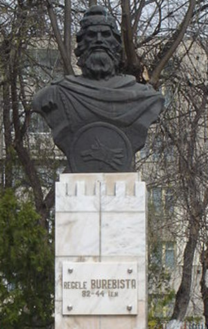 Burebista - Statue of Burebista located in Călărași