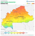 Burkina-Faso DNI Solar-resource-map GlobalSolarAtlas World-Bank-Esmap-Solargis.png