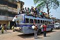 Bus with Passengers - Indian National Highway 34 - Nakashipara - Nadia 2013-03-23 7099.JPG
