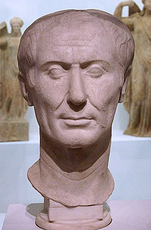 Tusculum - The Tusculum portrait of Julius Caesar from 50–40 BC, found in the city in 1825