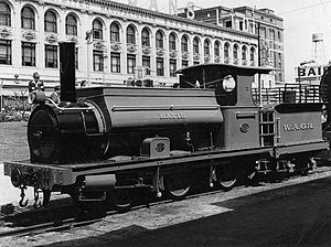 WAGR C class (1880) - C1 on display at Perth station in 1956