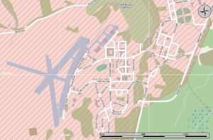 400 Tactical Helicopter Squadron - Map detail showing the airfield at CFB Borden.