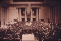 CHICAGO'S UNION STATION PICTURED AT ITS DEDICATION IN 1925 NOTE, COMPARE PICTURE ^13615 WHICH WAS TAKEN FROM THE SAME... - NARA - 556068.tif