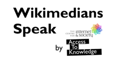 CIS-A2K Wikimedians Speak logo.png