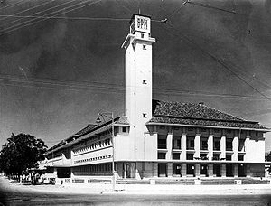 Bataafse Petroleum Maatschappij - BPM moved into this building in Jakarta in 1938. The building is now the headquarter of Pertamina.