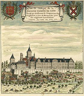 L'abbaye en 1702.