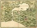 Caerte vande Bay St. Tiago - gelegen op 't Eylant Cvba, op de Hoochtv van 20 1-2 graedt; aen de Zuyd land van Cuba. LOC 2003623400.jpg