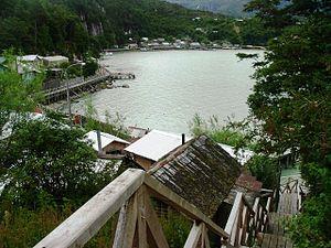 Tortel - Wooden walkways in Caleta Tortel