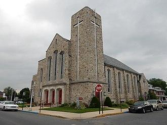 Laureldale, Pennsylvania - Image: Calvary Lutheran Church, Laurendale Berks Co PA