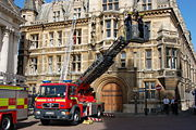 Turntable ladder at Gonville and Caius College, Cambridge