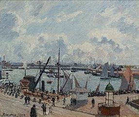 The Anse des Pilotes, Le Havre, Morning, Sunshine, Tide Rising