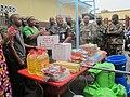 Campagne de prévention d'Ebola- le bataillon ghanéen de la MONUSCO fait don de médicaments aux enfants de l'orphelinat ORPER (15233372119).jpg