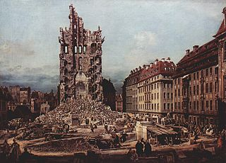The Ruins of the old Kreuzkirche, Dresden