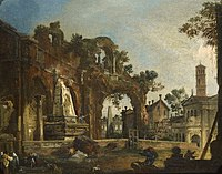 Canaletto (Venice 1697-Venice 1768) - Rome, A Caprice View with Ruins Based on the Forum - RCIN 400568 - Royal Collection.jpg